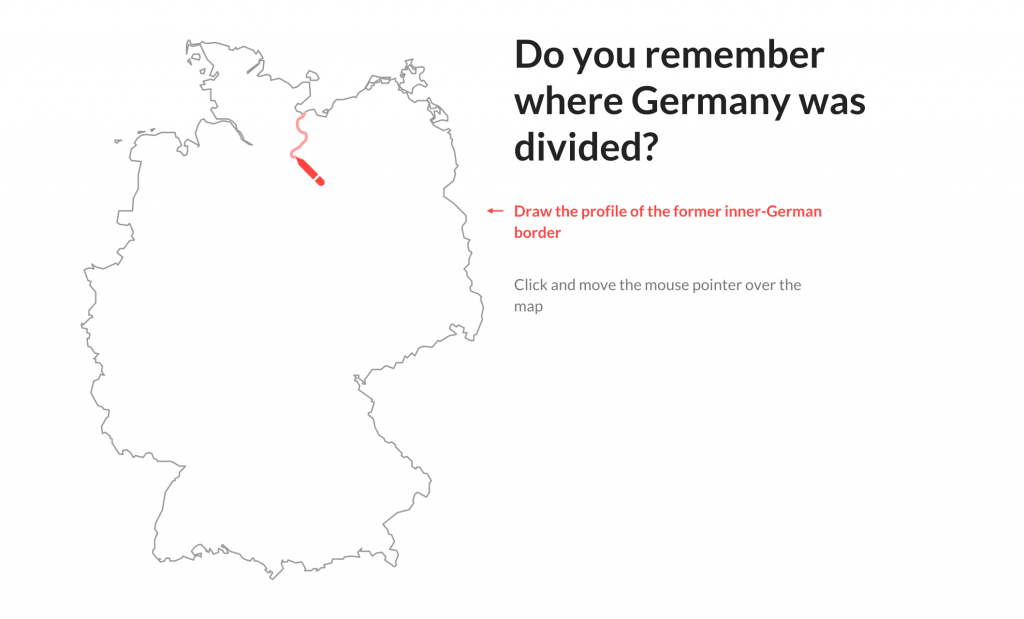 Do you remember where Germany was divided?