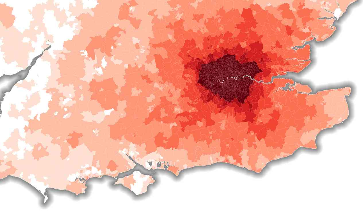 Guardian commute times visualisation