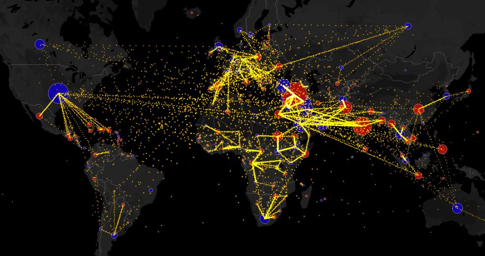 Metrocosm immigration interactive map