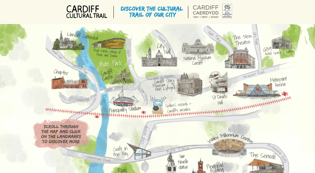 visit cardiff interactive map