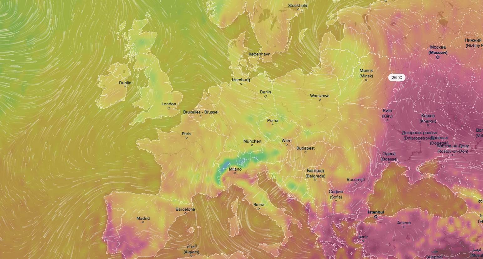 real time weather map world