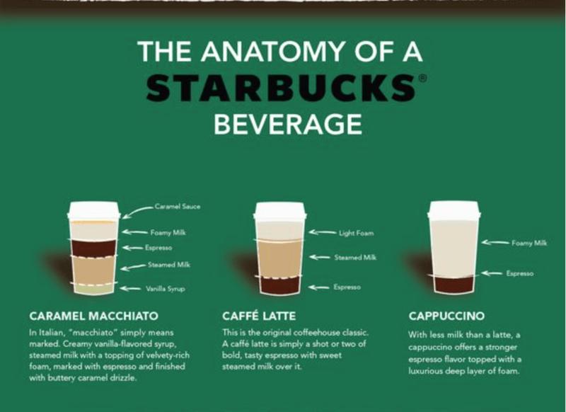 beverage anatomy starbucks infographic